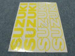 Stickers sheet SUZUKI - yellow-yellow contour