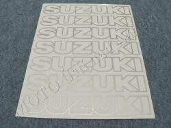 Stickers sheet SUZUKI - silvery contour