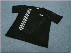 T-shirt black w/ logo MZ & checkered pattern, Size L