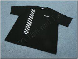 T-shirt black w/ logo SIMSON & checkered pattern, Size L