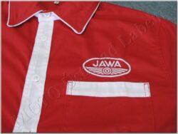 Shirt red-white logo Jawa - Size L(930636)