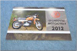 kalendář 2012 - sportovní motocykly ČZ ( 420x300 )