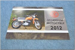 Wall calendar 2012 - Sport motocycles ČZ ( 420x300 )