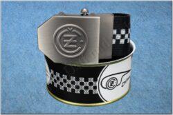 belt ČZ / textile black checkerboard - size 150cm