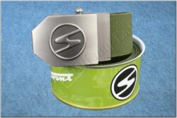 belt TRABANT / textile khaki - size 150cm