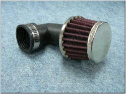 Air filter racing  D35 - 90°, intake ( UNI,Jawa,ČZ ) cone little