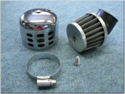 Air filter racing  D32 - 45°, intake, w/ cover ( UNI,Jawa,ČZ ) cone little  (990480)